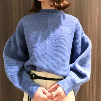 ピンタックガーター編みプルオーバー