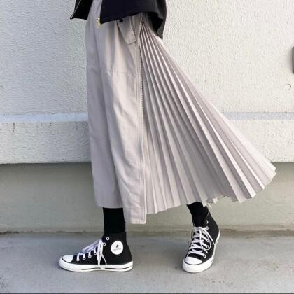 サイドジッププリーツスカート