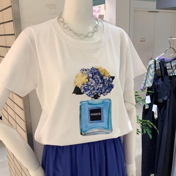 ★紫陽花プリントTシャツ