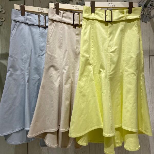 《NEW ARRIVAL》★ベルト付きマーメイドスカート