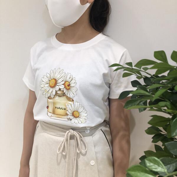 マーガレットプリントTシャツ