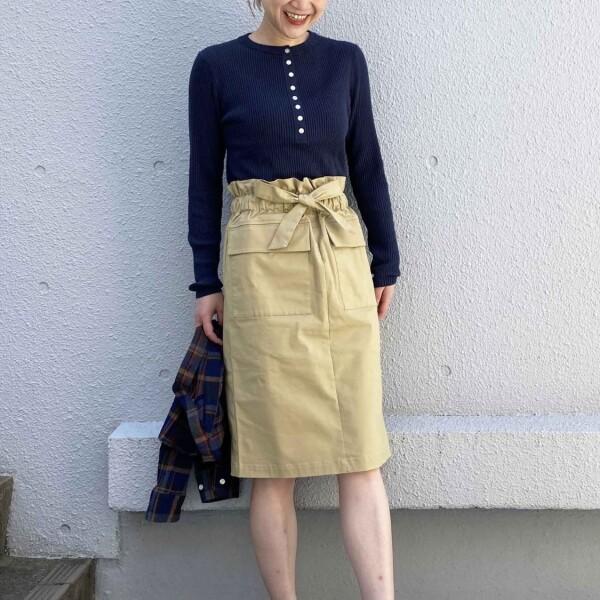 ハイウエストフロントポケットタイトスカート