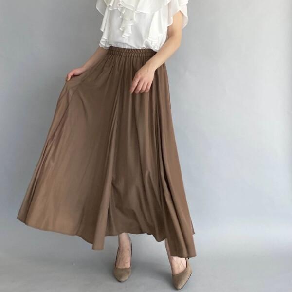 マチ入りロングスカート